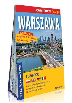 Comfort!map Warszawa 1:26 000 mapa kieszonkowa