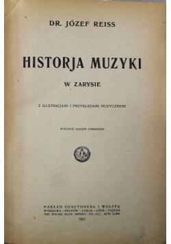Historja muzyki 1921 r.