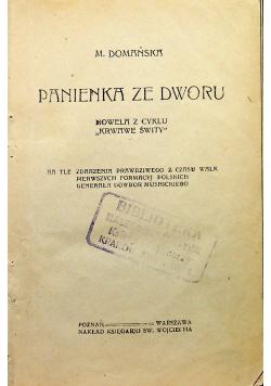 Panienka ze dworu / Szwabski niewolnik około 1922 r.