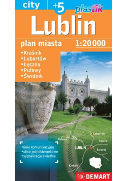Plan miasta Lublin 1:20 000 plastik DEMART