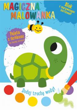 Magiczna malowanka z farbkami - Żółwik
