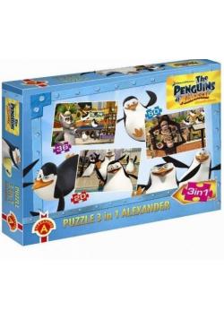 Puzzle 3w1 - Pingwiny z Madagaskaru serial ALEX