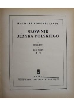 Słownik języka polskiego tom 5