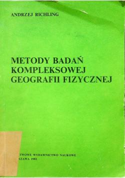 Metody badań kompleksowej geografii fizycznej