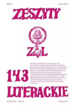 Zeszyty literackie 143 3/2018