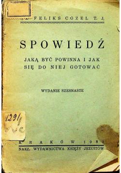 Spowiedź jak być powinna 1932