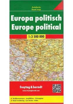 Mapa polityczno-drogowa. Europa 1:3 500 000
