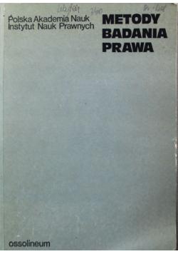 Metody badania prawa materiały sympozjum Warszaw28 29 IV 1971 r