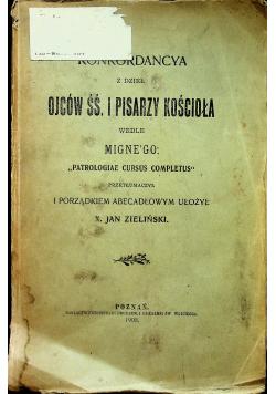 Konkordancya tom 1  1908 r