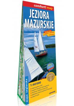 Jeziora Mazurskie 2-częściowa laminowana mapa żeglarska 1:60 000