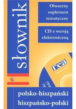 Słownik polsko hiszpański hiszpańsko polski Nowa