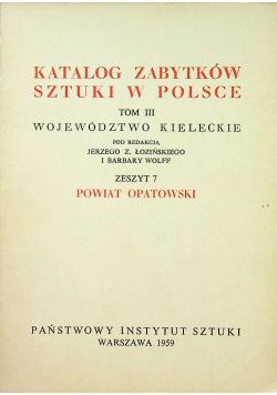 Katalog zabytków sztuki w Polsce Tom III Zeszyt 7