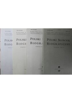 Polski słownik biograficzny 4 Tomy