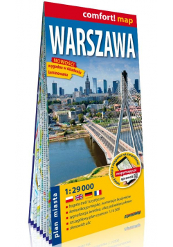 Comfort! map Warszawa 1:29 000 plan miasta w.2020