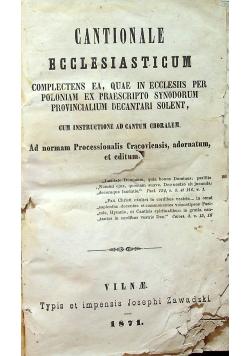 Cantionale ecclesiasticum 1871 r.