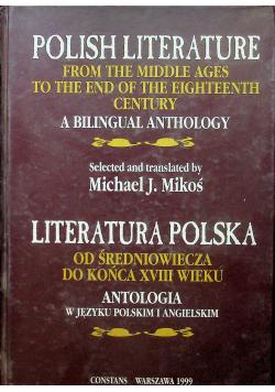Literatura polska od średniowiecza do końca XVIII wieku