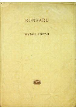 Ronsard Wybór poezji