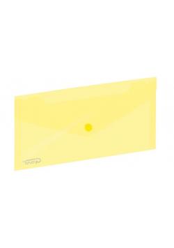 Koperta na zatrzask 254x130mm żółta GRAND