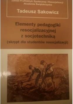 Elementy pedagogiki resocjalizacyjnej z socjotechniką