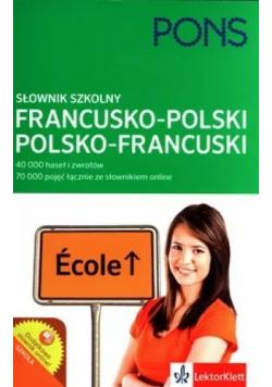 Słownik szkolny francusko  polski  polsko francuski