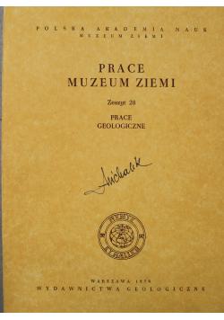 Prace muzeum ziemi Zeszyt 28 Prace Geologiczne