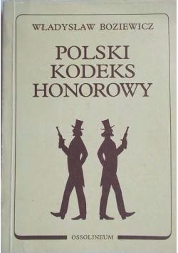 Polski Kodeks Honorowy Reprint 1939 r