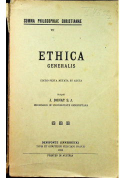 Ethica Generalis 1934 r.