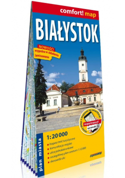 Białystok laminowany plan miasta 1:20 000