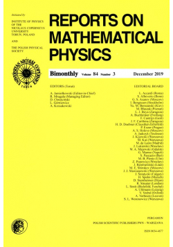 Reports on Mathematical Physics 84/3 Pergamon