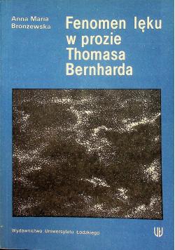 Fenomen lęku w prozie Thomasa Bernharda