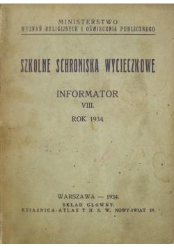 Szkolne schroniska wycieczkowe informator 1934 r