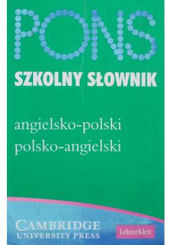 Pons szkolny słownik angielsko - polski polsko - angielski