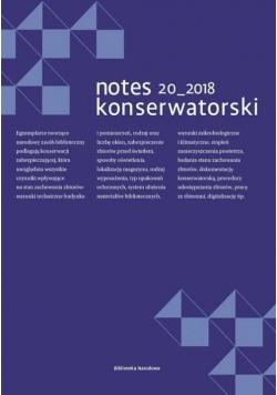 Notes Konserwatorski nr. 20/2018