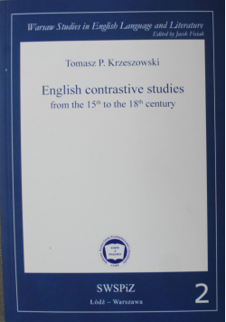 English contrastive studies from the 15th to the 18th century