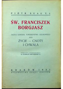 Św Franciszek Borgjasz 1931 r.