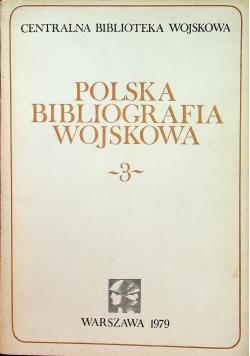 Polska bibliografia wojskowa 3