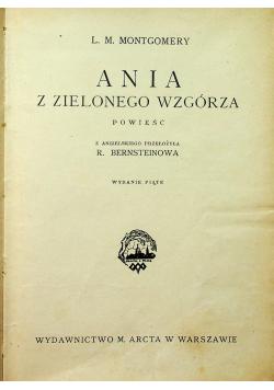 Ania z Zielonego Wzgórza 1928 r