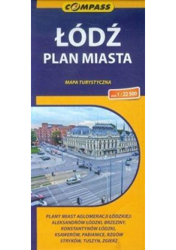 Plan miasta - Łódź 1:22 500