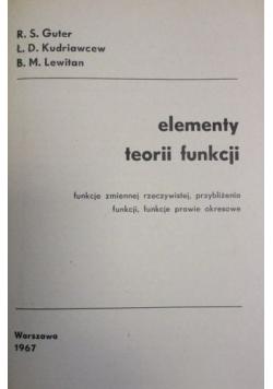 Elementy teorii funkcji