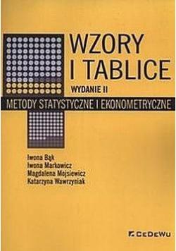 Wzory i tablice. Metody statystyczne.. w.2