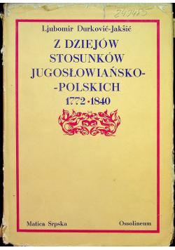 Z dziejów stosunków jugosłowiańsko polskich 1772 1840