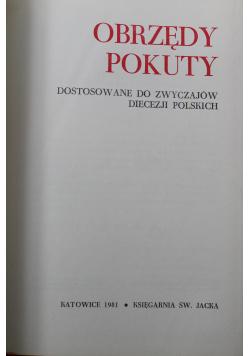 Obrzędy pokuty Dostosowanie do zwyczajów diecezji polskich