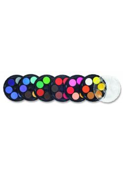 Farby akwarelowe 36 kolorów okrągłe