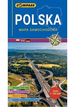 Mapa samochodowa - Polska 1:700 000 w.2020