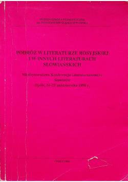 Podróż w literaturze rosyjskiej i w innych literaturach słowiańskich