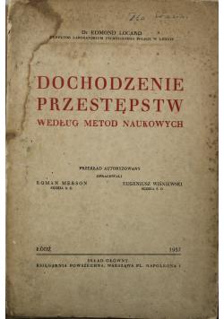 Dochodzenie przestępstw według metod naukowych 1937 r.