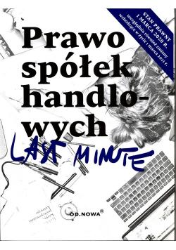 Last minute Prawo spółek handlowych
