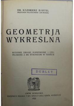 Geometrja wykreślna 1922r