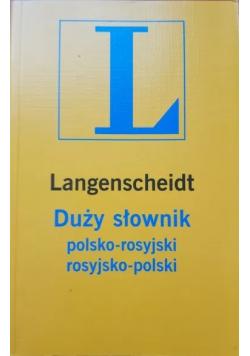 Duży słownik polsko rosyjski rosyjsko polski Langenscheidt