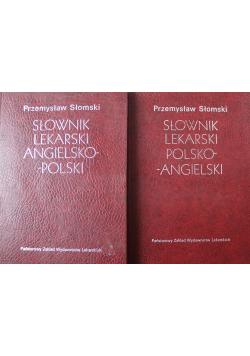 Słownik lekarski polsko angielski  Słownik lekarski angielsko polski  2 tomy